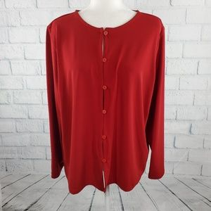 Liz Claiborne - red button down long sleeves cardi